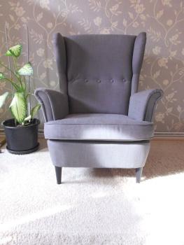 ikea strandmon ohrensessel svanby grau top kaum genutzt 2ter sessel ebay. Black Bedroom Furniture Sets. Home Design Ideas