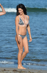 Brooke Burke Wearing a Bikini at a Beach in Malibu - 6/22/15