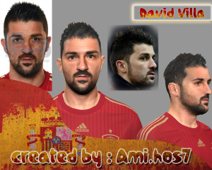 Download PES 2014 David Villa Face By Ami.Hos7