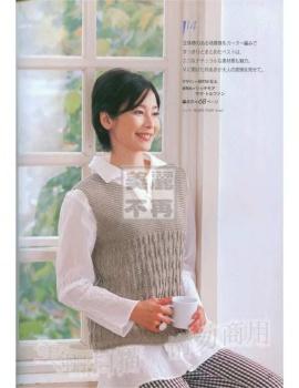 Модели безрукавок азиатских журналов по вязанию.