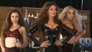 Kelly Brook photoshoot for Philips BodyGroom Barbershop Behin The Scene 2012