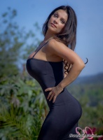 Дениз Милани, фото 5573. Denise Milani Black Dress 2 :, foto 5573