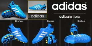 Download PES 2014 Adidas 11pro FG - Solar Blue/Running White/Black