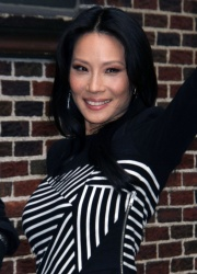Lucy Liu - at the Late Show with David Letterman in NYC 10/9/13