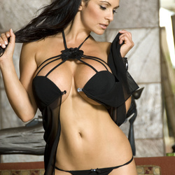 ����� ������, ���� 4274. Denise Milani Black See Through, foto 4274