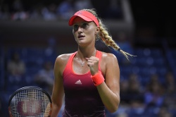 Kristina Mladenovic - 2015 US Open Day Seven: 4th Round vs. Ekaterina Makarova @ BJK National Tennis Center in Flushing Meadows - 09/06/15