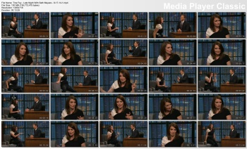 Tina Fey - Late Night With Seth Meyers - 9-17-14 (tight leather pants)