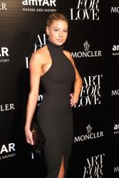 Charlotte McKinney - Moncler & Amfar Celebrate Art of Love in New York 9/11/15