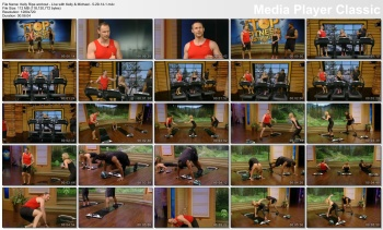 Kelly Ripa workout - Live with Kelly & Michael - 5-29-14