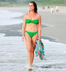 Brooke Shields Wearing a Bikini at the Beach in Mexico - 1/1/15
