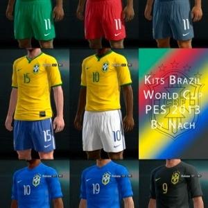 PES 2013 Brazil World Cup 2014 GDB Kits by Nachuuh
