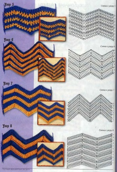 Узоры зиг-заг схемы и вото (5). Туника узор зигзаг (5) .