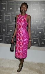 Alek Wek - BALMAIN X H&M Collection Launch @ 23 Wall Street in NYC - 10/20/15