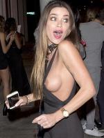 Sofia milos nipple slip