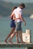 Nina Dobrev with her boyfriend Austin Stowell in Saint-Tropez (July 24) 9J4q4WXU