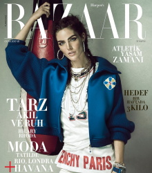 Hilary Rhoda - Harpers Bazaar Turkey January 2017