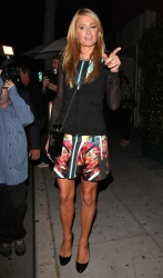 Paris Hilton Leaves Mr. Chow In Berverly Hills 03 June 2014