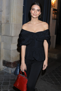 Emily Ratajkowski - Leving Vogue Fashion Fund Coktail Party During Paris Fashion Week - March 3rd
