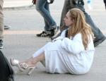 Джуно Темпл, фото 18. Juno Temple 2012-07-27 - On Set of Truck Stop in Palmdale, foto 18