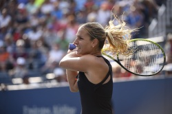 Dominika Cibulkova - 2015 US Open Day Five: 3rd Round vs. Eugenie Bouchard @ BJK National Tennis Center in Flushing Meadows - 09/04/15