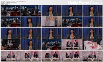 Kim Kardashian - Jimmy Kimmel Live - 8-4-14 (cleavage)