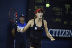 Alize Cornet  - 2015 US Open Day Two: 1st Round vs. Kurumi Nara @ BJK National Tennis Center in Flushing Meadows - 09/01/15
