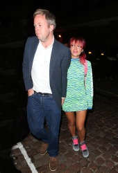 Lily Allen - Spotted at The Chiltern Firehouse with her husband Sam Cooper in London August 12, 2014