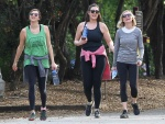 Kirsten Dunst is spotted out for a hike with friends in Studio City - January 20-2016 x20