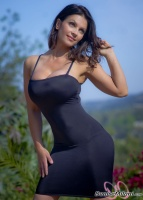 Дениз Милани, фото 5567. Denise Milani Black Dress 2 :, foto 5567