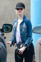Emma Stone - Exits a yoga studio after a morning workout in LA 7/2/17