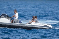 Nina Dobrev and Asustin Stowell enjoy the ocean off the cost the French Riviera (July 26) Zw6eFDpn