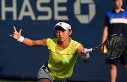 Misaki Doi - 2015 US Open Day Three: 2nd Round vs. Belinda Bencic @ BJK National Tennis Center in Flushing Meadows - 09/02/15