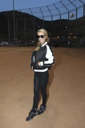 Paris Hilton - Kick'n It For Charity celebrity kickball game at the Glendale Sports Complex in California July 19 2014