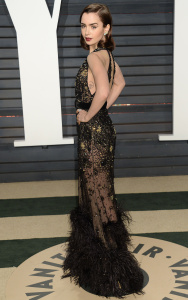 Lilly Collins - 2017 Vanity Fair Oscar Party Hosted By Graydon Carter - February 26th 2017