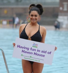 Casey Batchelor - Swims At Hampstead Heath Lido To Support Redbridge Charity - February 12th 2017