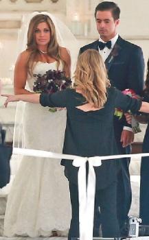 Danielle Fishel wedding ceremony Los Angeles