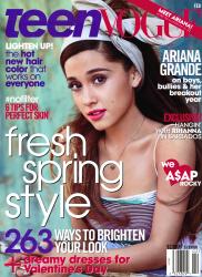 Ariana Grande x6 Teen Vogue February, 2014