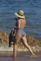 Hilary Duff - On the beach in Maui, Hawaii 8/2/17