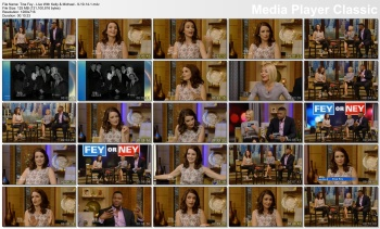 Tina Fey - Live With Kelly & Michael - 9-19-14 (leather pants again)