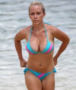 Kendra Wilkinson blue bikini Hawaii