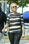 Sharon Stone Hangs out with a friend while enjoying a beautiful sunny day June 16-2015 x8