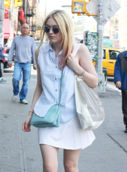 Dakota Fanning - out in NYC 4/9/13