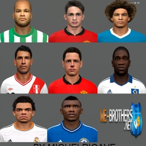 Download PES 2014 Face Pack № 5 by miguelrioave