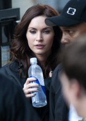 Megan Fox on set of Teenage Mutant Ninja Turtles in Tribeca June