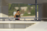 Nina Dobrev and Asustin Stowell enjoy the ocean off the cost the French Riviera (July 26) JzUweMNl