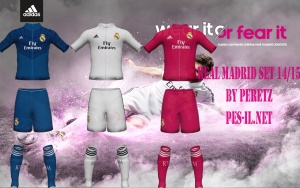 Download Real Madrid 2014-15 Kits For PES 2014 by Peretz