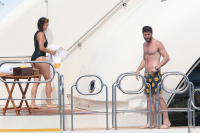 Nina Dobrev and Asustin Stowell enjoy the ocean off the cost the French Riviera (July 26) A66a3aYk