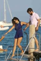 Nina Dobrev with her boyfriend Austin Stowell in Saint-Tropez (July 24) WQEV6XZ5