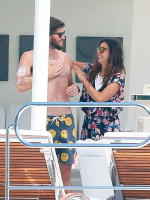Nina Dobrev and Asustin Stowell enjoy the ocean off the cost the French Riviera (July 26) Sbg3j2GK