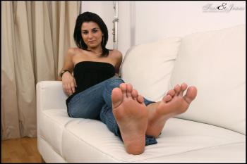 Modelo de fetiche de pie independiente
